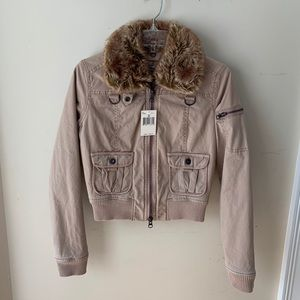 NWT $98 GUESS bomber jacket coat M